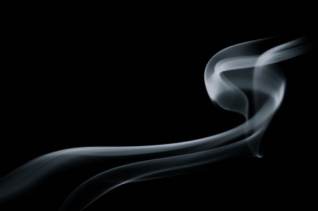 Abstract smoke on black background Stock Photo - 24670016