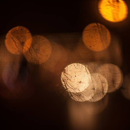 Bokeh light of the cars on the road