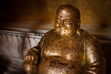 Buddha statue in the temple at Phetchaburi Province, Thailand. photo