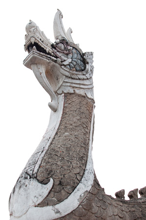 King of Nagas statue on isolated background photo