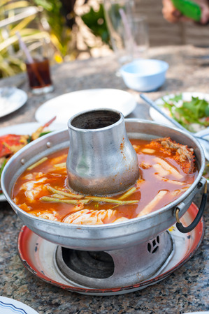 crab pots: Sweet and sour soup or Tom Som soup is Thailands famous soup