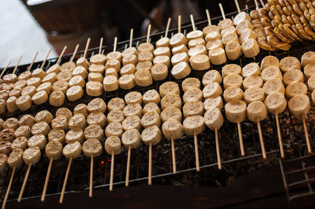 Grill Bananas in Thailand.It isThailand dessert photo