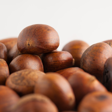 parch: Sweet chestnuts spilled out from the papar bag