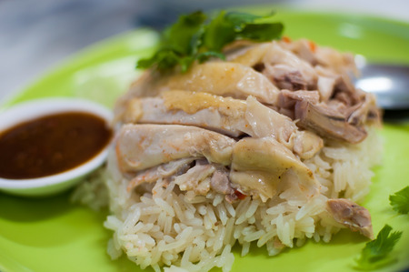 popular soup: The menu consists of chicken boiled and jasmine Rice