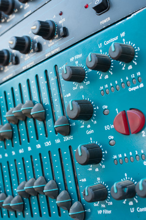 Sound mixer useful for various music and sound themes Stock Photo