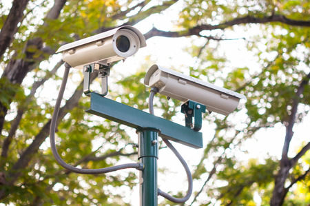 Security Camera or CCTV in the park photo