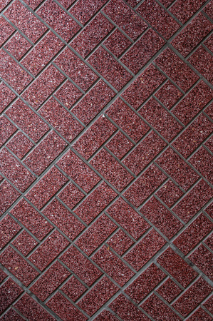 Red floor tiles pattern background photo