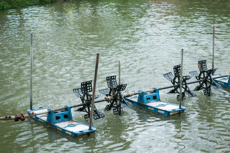 water turbine: Water turbine for increasing oxygen in the water
