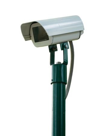 Security Camera or CCTV on white background photo