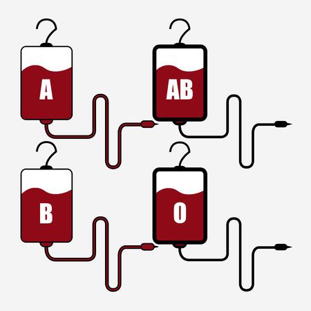 catheter: Blood Bag - Illustration image on white background Illustration