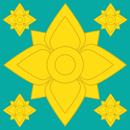 Flower Pattern artistic of thai Vector
