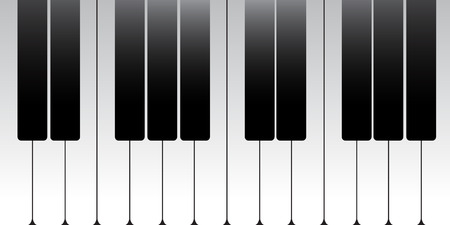 Standard piano key Vector