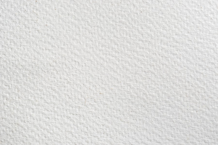 Texture background of absorbent white watercolour paper. Stock Photo