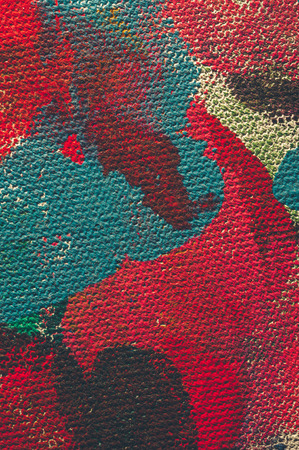 color effect: Abstract texture of oil color on canvas, Color effect Stock Photo