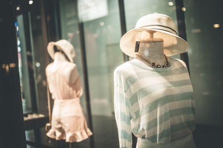 Female mannequins inside a fashion house, Color Effect photo