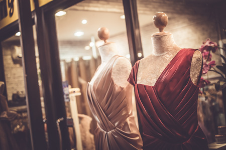 Female mannequins inside a fashion house, Color Effect photo