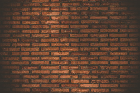 Old grunge brick wall background, Retro effect photo