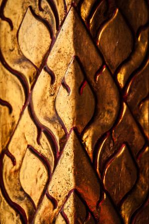 wood carvings: Close-up shoot of wood thai pattern handmade wood carvings. Stock Photo