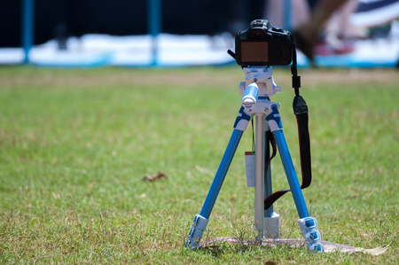 sward: Camera on a tripod in the park