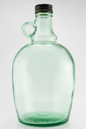 Empty jars isolated on white background