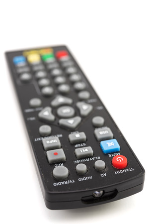 Remote control for TV isolated on white background 免版税图像