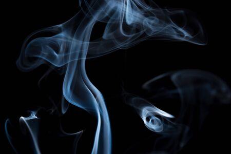 movement of smoke on black background, smoke background, abstract smoke on black background Stockfoto