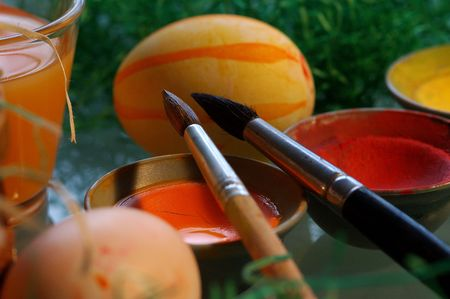 creative egg painting: easter