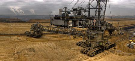 crane bucket: coal digger Stock Photo