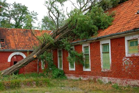environment damage: russian army barracks in germany Stock Photo