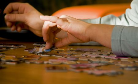 puzzling: puzzling Stock Photo