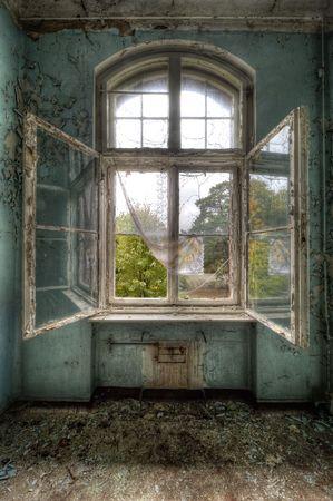 open window: Beelitz Heilstätten
