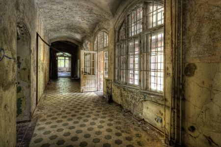 abandoned room: on the floor