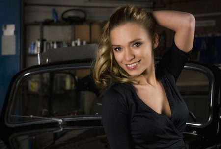 in a car shop Stock Photo - 9142164