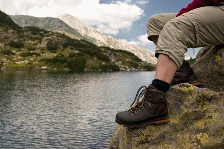 walking boots: mountainlake
