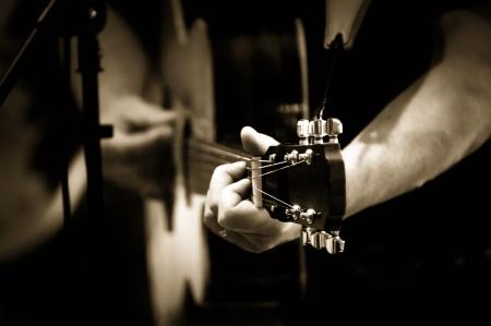 playing guitar Imagens