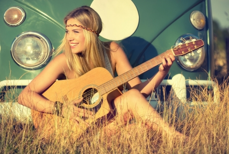 mujer hippie: Canto