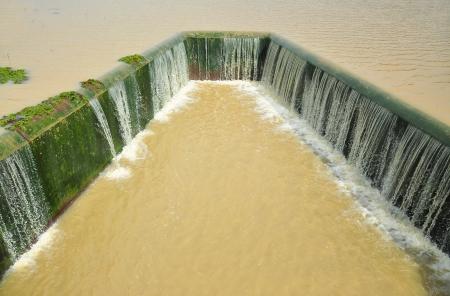 hydrology: Water reservoir Stock Photo