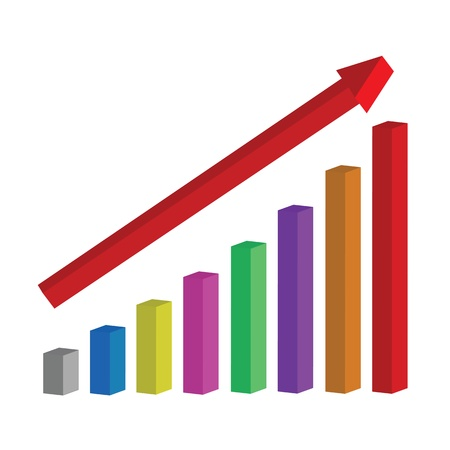 Chart of success Illustration