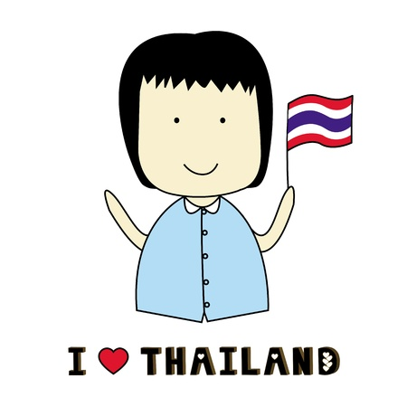 I love Thailand  Thailand figthing Stock Vector - 19728276