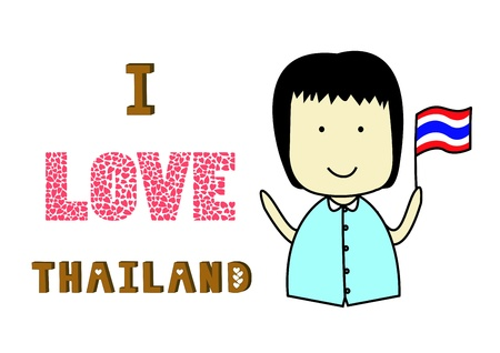 I love Thailand  Thailand figthing  Stock Vector - 19728275