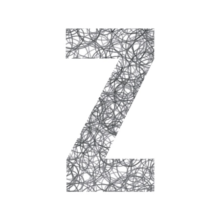 Z alphabet for design and decoration