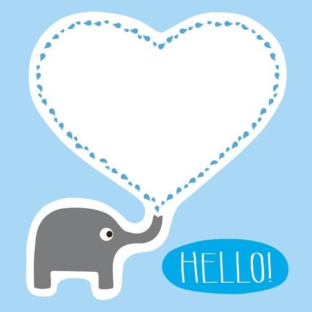 hello heart: Hello Card