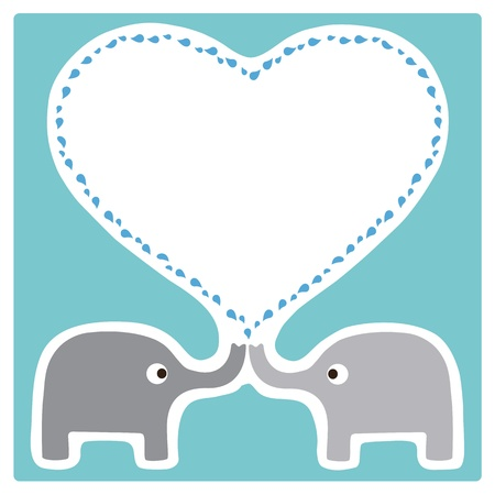 Elephants Love Vector