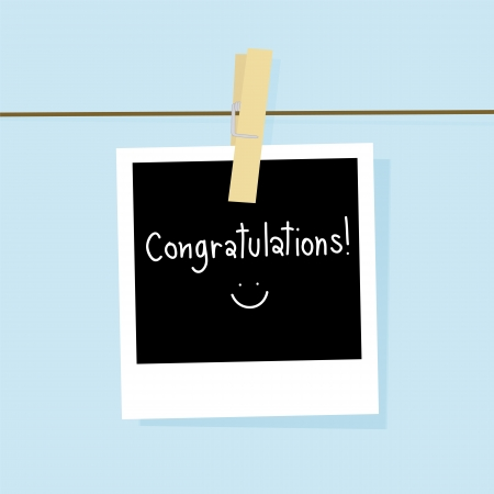 Picture card for congratulations