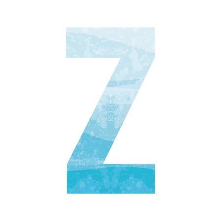 Blue alphabet Z