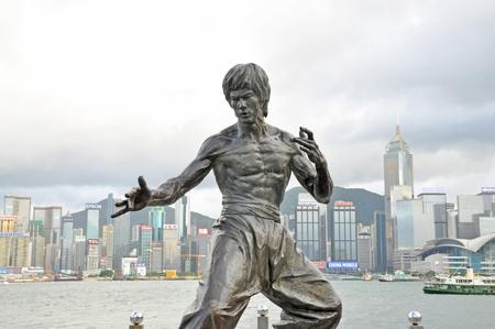 avenue: Bruce Lee statue, Hong Kong