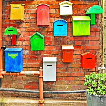Colorful mailboxes photo