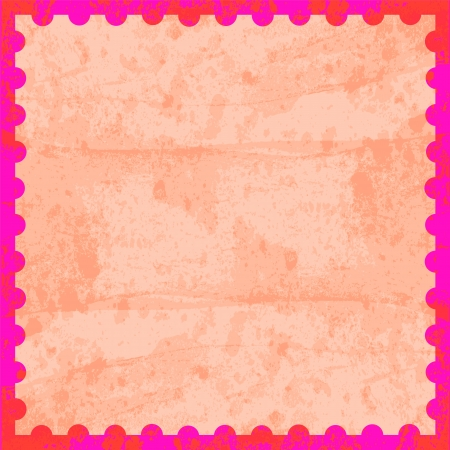 Pink and red stamp card