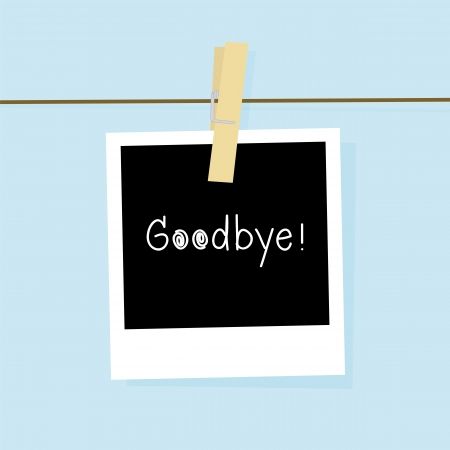 good bye: Good bye card