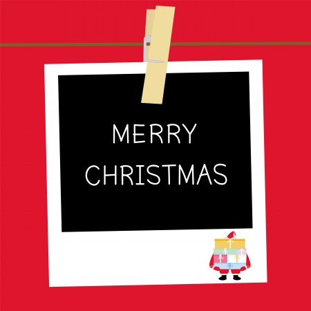 Greeting card for Christmas day  Vector
